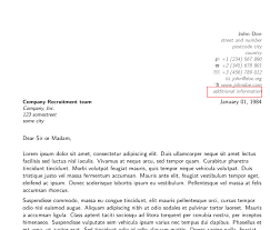 Dear Sir Madam Cover Letter Moderncv How To Stop Extrainfo Appearing In Cover Letter Tex
