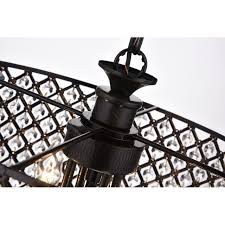 marya 4 light antique black round drum crystal chandelier ceiling fixture