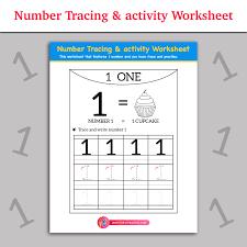 Number Tracing & activity worksheet   Inky Treasure