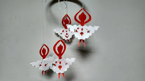 diy paper doll wall hanging home decoration idea for diwali