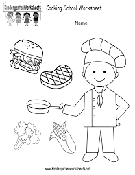 cooking school worksheet printable cooking school worksheet free kindergarten learning worksheet on kindergarten printable worksheets