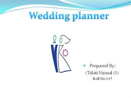 Wedding Planner Ppt Wedding Planner Nirmal Authorstream