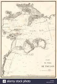 Plan Du Port De Toulon Var Gauttier 1851 Old Antique