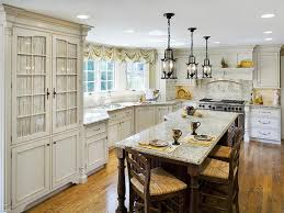 country style kitchen designs. Kitchen:Lovely French Country Style Kitchen Ideas With White Marble Island Table Countertop And Classic Designs