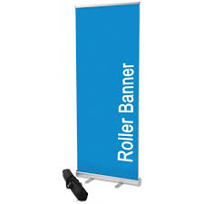 Pull Up Display Stands Cool 332m X 3232m Roller Banner Cost Effective Roller Banner UK