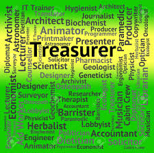 Treasurer Job Showing Employment Words And Occupations Stock Photo