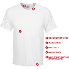 Hanes Hanes Mens Comfortsoft White Crew Neck T Shirt 10