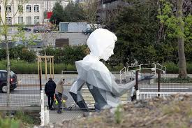 Monumental Sculpture by David Mesguich Abandoned in Train Yard