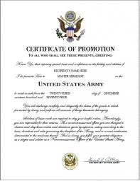 Promotion Certificate Template Military Promotion Invitation Template Free Bill Sale Template