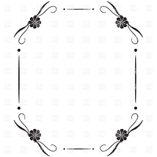 simple frame border. Simple Square Vintage Frame With Vignettes In Corner Royalty Free Vector Clip Art Border