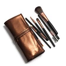 eyebrow brushes kit. 7pcs soft makeup brushes kit set eye shadow eyebrow brush cosmetics tools brown black handle u