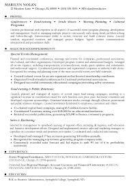 Event Coordinator Sample Resume Sample Resume Event Coordinator