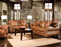 traditional leather living room furniture. Interesting Leather Modern Rustic Formal Living Room Furniture With Leather Sofa And Chairs  Plus Stone Wall Traditional Wooden Window Design For S