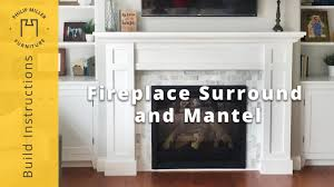 stunning how to build a fireplace surround and mantel diy project image of building style ideas