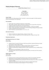 Piping Designer Resume Sample Interesting Piping Engineer Sample Resume Colbroco