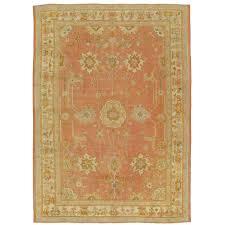 antique oushak carpet handmade oriental rug pink rug taupe cream fine for