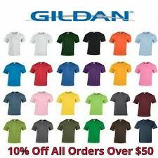 Gildan Color Chart 5000 Gildan Heavy Cotton T Shirt 5000 4 43 Picclick