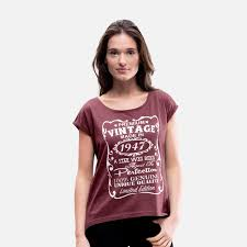 70th birthday t shirts 70th birthday gift ideas for women women s rolled sleeve