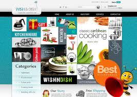 E Commerce Crockery Website Layout Design Professional