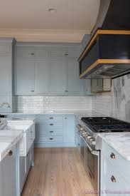 Classic And Modern Kitchens A Classic Vintage Modern Kitchen Blue Gray Cabinets Inset Shaker