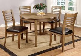 get ations 1perfectchoice dwight 5 pcs 48 d round dining table pu seat side chairs solid wood
