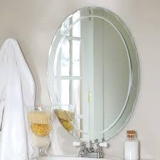 glamorous frameless beveled wall mirror 25 elegant living