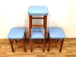 vintage kitchen step stool chair retro step stool chairs image of retro kitchen step stool blue