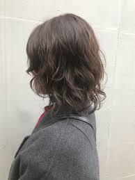 ミディアム ナチュラル ウルフパーマ レイヤーtete Nico おかゆ 438941