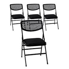 metal folding chairs with padded seats. Fine Metal Cosco Commercial Black Metal Folding Chair With Fabric Padded Seat And  Resin Mesh Back Set With Chairs Seats A