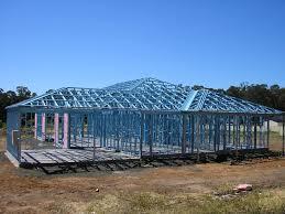 Metal Frame Houses Steel Frame Homes Blue Scope Steel Dj Hogan Builders