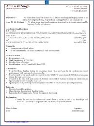 Impressive Resume Format    Latest Sample Cv For Freshers      Peppapp