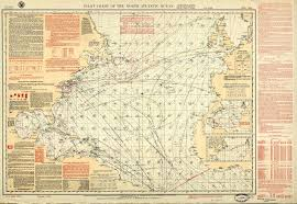 Pilot Chart Of The North Atlantic Ocean June 1923 Issue Of