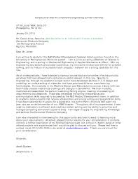 Cover Letter For A Mechanical Engineering Templates At