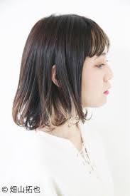 地髪を活かしたお手軽カラー黒髪グラデーションヘアカタログの7枚目の