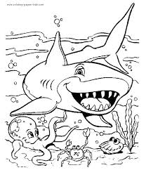 Ocean Coloring Page Animal Color Pages Com Themed Printable