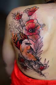 иоанна швирска тату с животными в ярких психоделических цветах