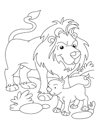 Small Picture Lion and Cub coloring page Download Free Lion and Cub coloring