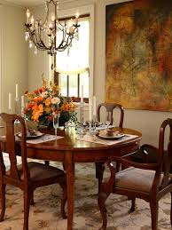 elegant dining room decoration with marigold flower ideas and antique crystal chandelier