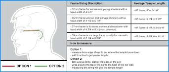 Eyeglass Frame Size Chart Common Large Frame Sizes Comepsard Co