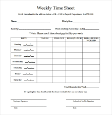 Payroll Time Sheets Free 28 Weekly Timesheet Templates Free Sample Example Format