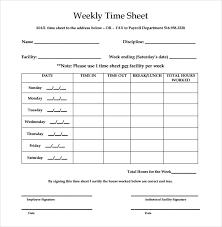 Employee Weekly Time Sheet 28 Weekly Timesheet Templates Free Sample Example Format