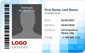 identity card template word ms word photo id badge templates for all professionals word