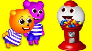Lollipop Vending Machine Custom Gummy Bear Gumball Vending Machine Finger Family Rhymes For Kids