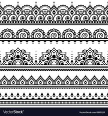 Henna Pattern Amazing Mehndi Indian Henna Tattoo Seamless Pattern Desi Vector Image