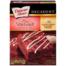 red velvet cake texture. Duncan Hines Decadent Red Velvet Brownie Mix Cake Texture