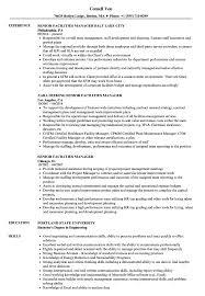 Facility Manager Resume Samples Senior Facilities Manager Resume Samples Velvet Jobs
