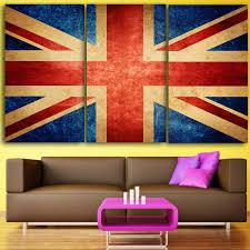 hd 3 piece canvas wall art printed union jack prints uk flag painting livingroom decoration wall on home decor wall art uk with hd 3 piece canvas wall art printed union jack prints uk flag