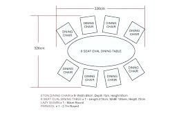 what size table seats 8 round table size for 8 dining room tables seats 8 round