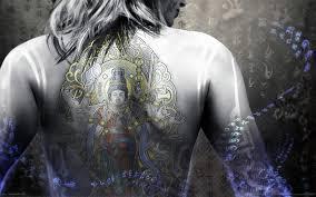 женские татуировки на спине фото девушка с тату будды 1920x1200