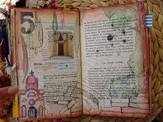 ingrid dijkers love how she transformed the map journaling altered books journal and journaling